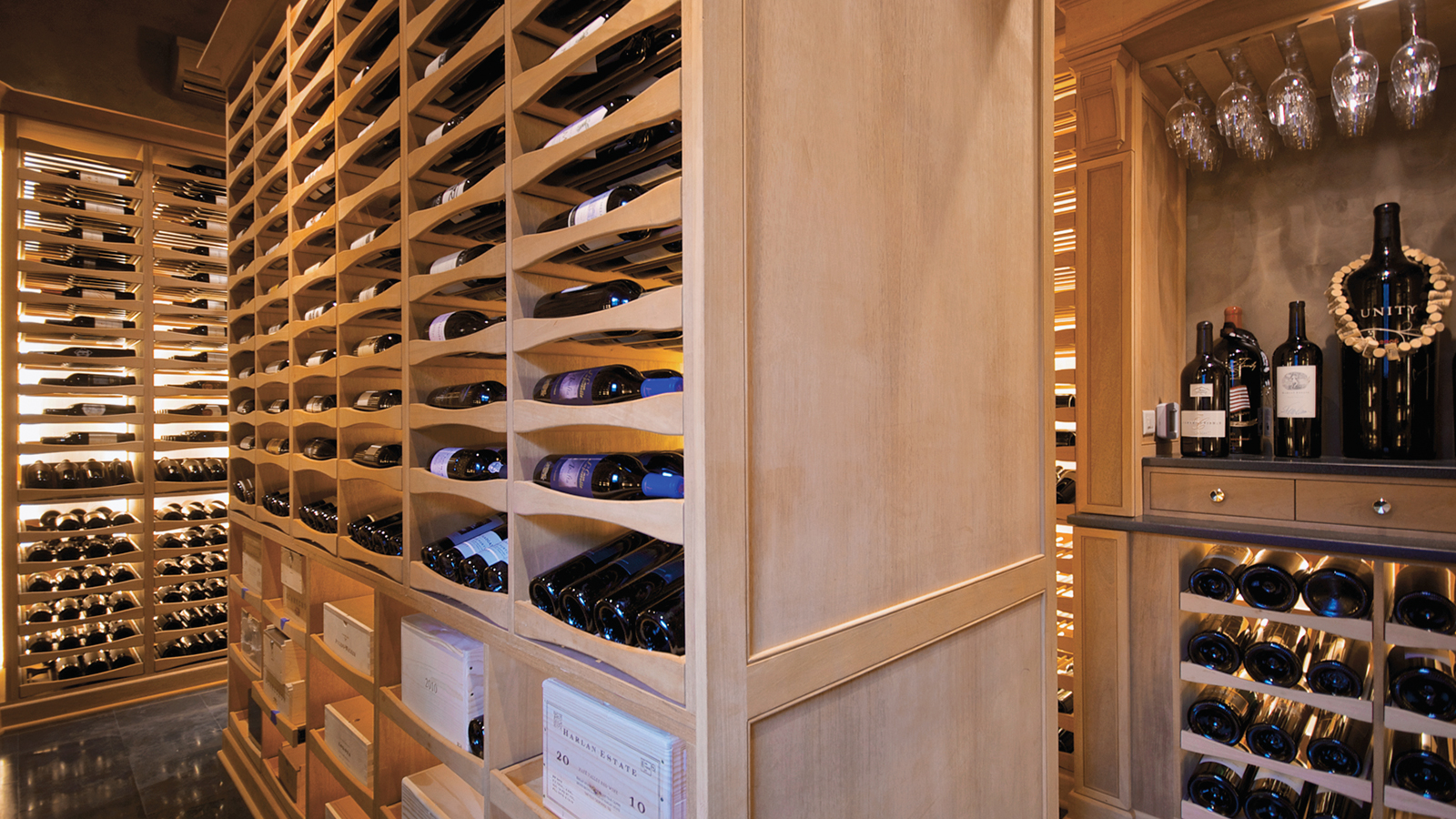 Wine cellar built in a pool house private cellars for In home wine cellars