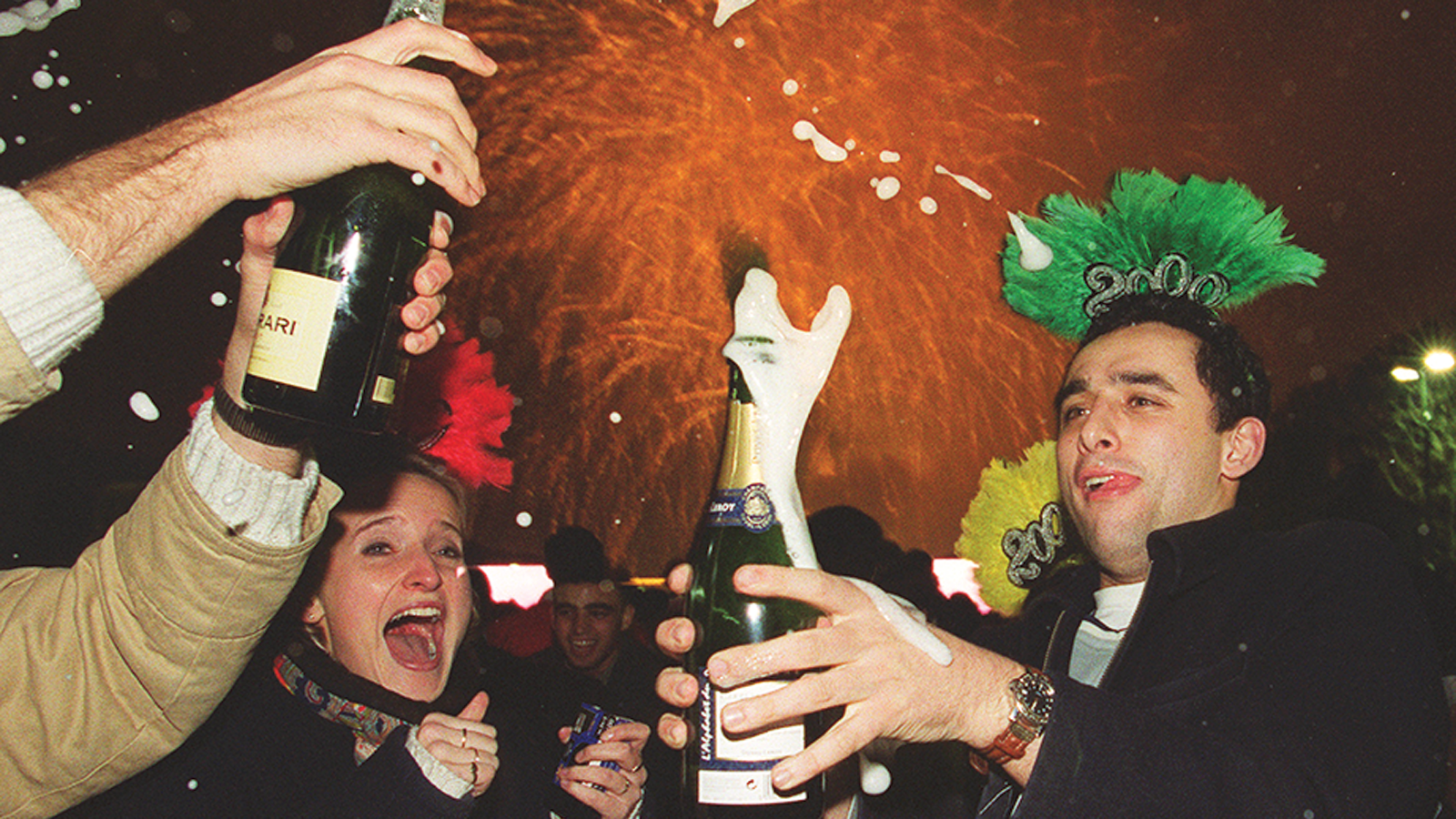 Celebrations of the new millennium boosted Champagne sales.
